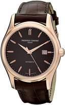 Frederique Constant Men's FC-303C6B4 Clear Vision Brown Diamond Dial Watch