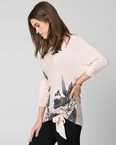 Le Château Floral Print Viscose Blend Sweater