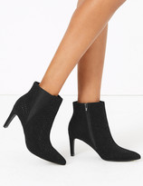 Marks and Spencer Embellished Stiletto Heel Chelsea Ankle Boots