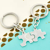 Tales From The Earth Sterling Silver Secret Message Jigsaw Puzzle Key Rings