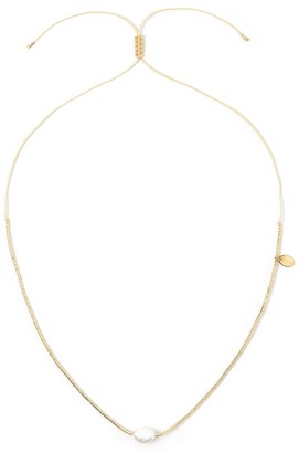 Arms Of Eve Matilda Pearl & Glass Beaded Necklace - Gold