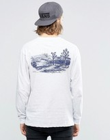 Vans Joshua Tree Ls T-shirt In White Va2yqnohc