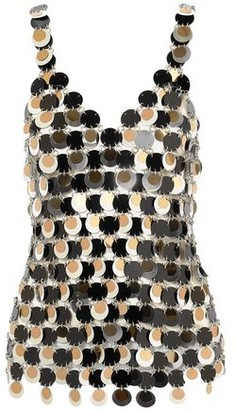 Paco Rabanne Sequin-embellished Chainmail Top