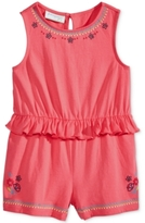 First Impressions Floral-Print Ruffled Cotton Romper, Baby Girls (0-24 months), Created for Macy's