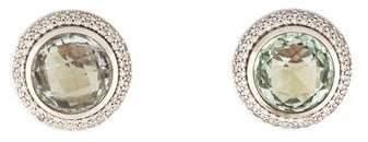 David Yurman Prasiolite & Diamond Cerise Earrings