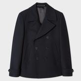 Paul Smith Men's Dark Navy 'A Coat To Travel In' Wool Peacoat