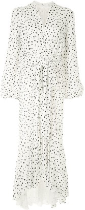 Silvia Tcherassi Splatter Print Surplice Dress