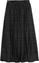 Markus Lupfer Cityscape metallic fil coupe midi skirt