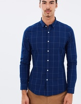 Brooksfield Window Pane LS Shirt