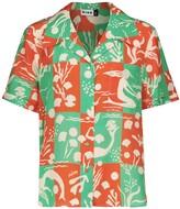 Thumbnail for your product : Rixo Rickie printed silk shirt