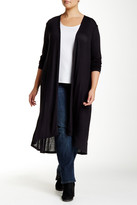 Bobeau Open Front Duster (Plus Size)