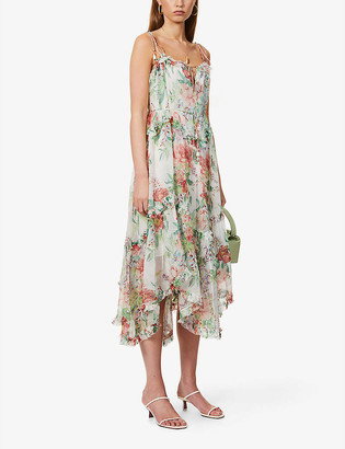 Zimmermann Floral-print silk midi dress