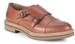 Brunello Cucinelli Double Monk-Strap Leather Cap Toe Oxfords