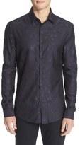 Versace Trim Fit Star Jacquard Shirt