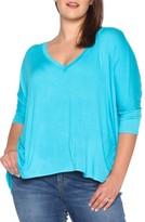 Plus Size Women's Slink Jeans V-Neck Tee