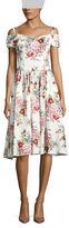 Chetta B Floral-Print Fit-&-Flare Dress