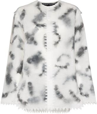 Susan Fang Layered Zig-Zag Trim Shirt