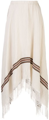 Fabiana Filippi Asymmetric Fringed Skirt
