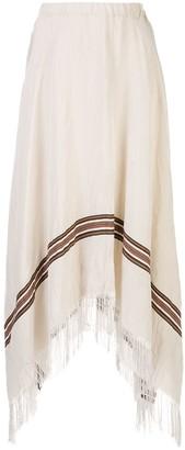 Fabiana Filippi asymmetric fringed skirt