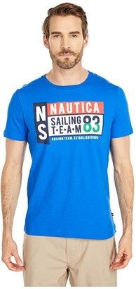 Nautica Sailing Team Graphic Tee (Blue) Men's Clothing