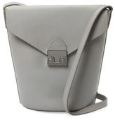Loeffler Randall Small Leather Flap Bucket Bag