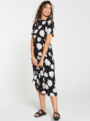 Warehouse Mia Floral Dress - Black