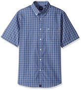 Dockers Short-Sleeve Plaid Button-Front Shirt with Pocket
