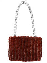 Paco Rabanne Iconic Knitted Mink Shoulder Bag