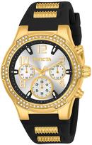 Invicta Black & Goldtone BLU Chronograph Watch