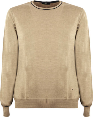 Fay Camel Virgin Wool Sweater