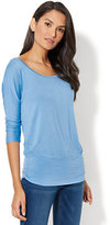 New York & Co. Manhattan Tee - Shirred Dolman Top