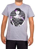 Tokidoki Hottie Happy Hour Character Men's T-Shirt (Heather Grey,)