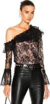 Nicholas Rosie Lace One Shoulder Ruffle Top