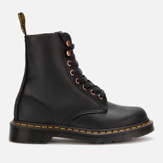 Dr. Martens Women's 1460 Pascal Leather 8-Eye Boots - Black/Black