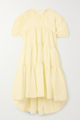 Cecilie Bahnsen Esme Tiered Crinkled-poplin Dress - Pastel yellow