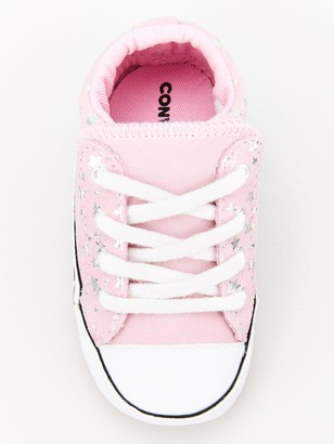 Converse Chuck Taylor All Star Mid Cribster Canvas Trainers - Pink/Silver