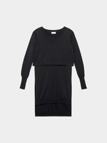 DKNY Pure V-Neck Layered Tunic And Extra Long Sleeves