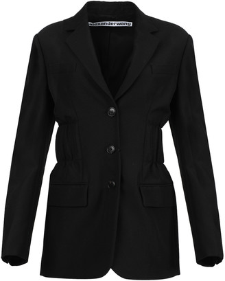Alexander Wang Cinched Waist Single Breasted Blazer