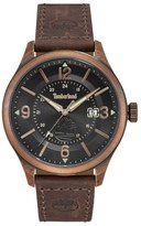 Timberland Blake Leather Strap Watch, 46mm