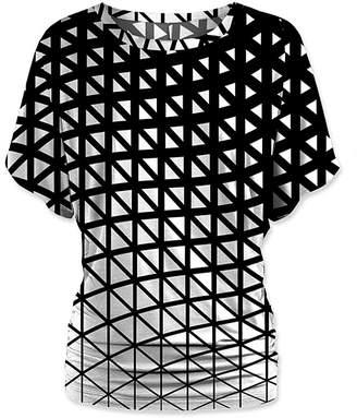 Udear UDEAR Women's Blouses Print - Black & White Abstract Dolman Top - Women & Plus