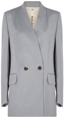 Petar Petrov Jean grey double-breasted blazer