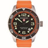 Swiss Military Men's Navy 42mm Silicone Band Swiss Quartz Watch 27031