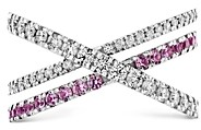 Paige Hayley For Hearts On Fire Hayley for Hearts on Fire 18K White Gold Harley Wrap Power Band with Diamonds & Sapphires