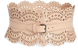 Alaia Editions 1992 Leather Vienne Corset Belt