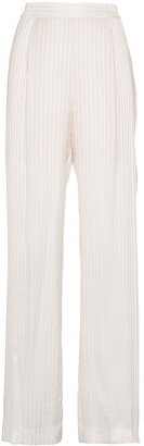 Stella McCartney Silk High Waisted Trousers