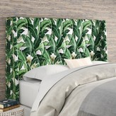 Beachcrest Home Whitman Tufted Upholstered Wingback Headboard Size: Twin