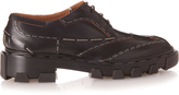 Balenciaga Exposed-stitch leather lace-up shoes