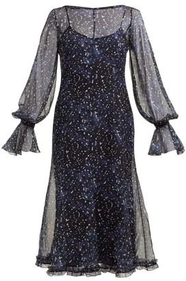 Max Mara Pavia Midi Dress - Blue Print