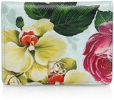 Dolce & Gabbana Fiori Floral Leather Wallet