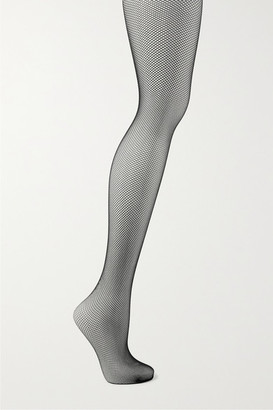 Wolford Twenties Fishnet Tights - Black
